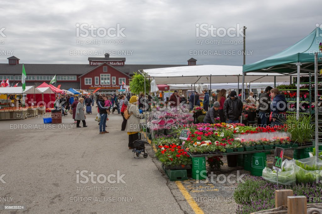 St. Jacobs Farmers' Market - Ontario, Canada stock photo