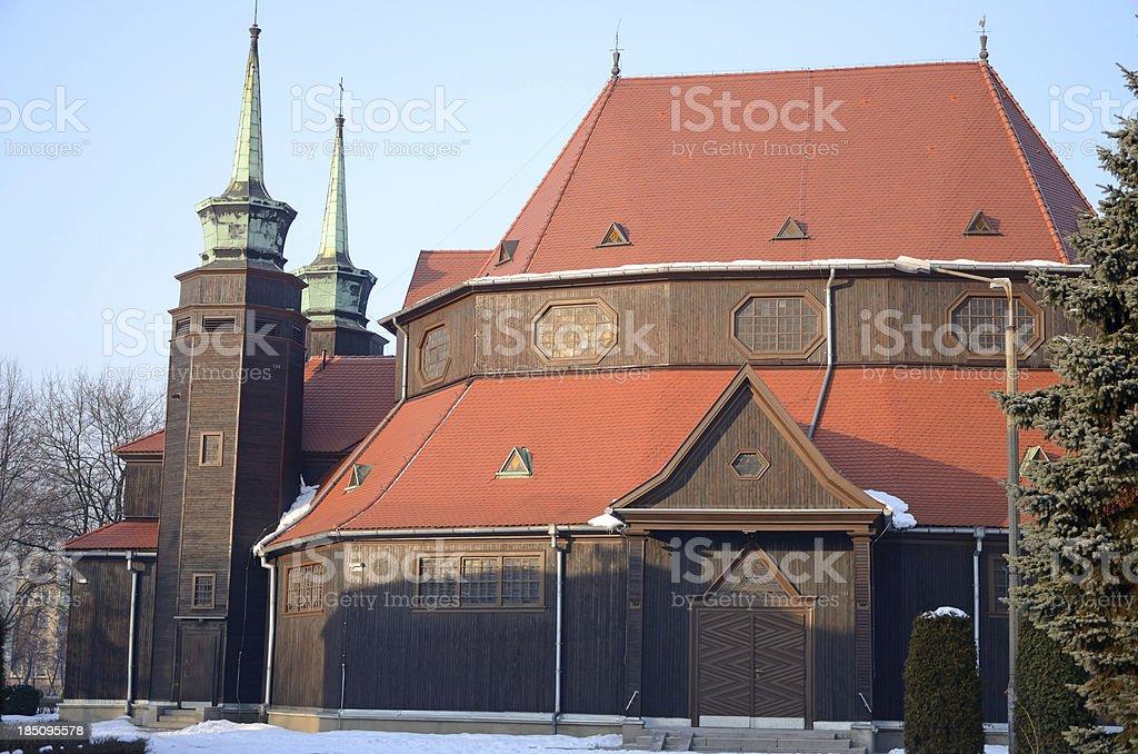 St. Jadwiga church in Zabrze (Silesia, Poland) royalty-free stock photo