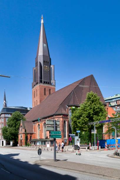St. James' Church in Hamburg stock photo