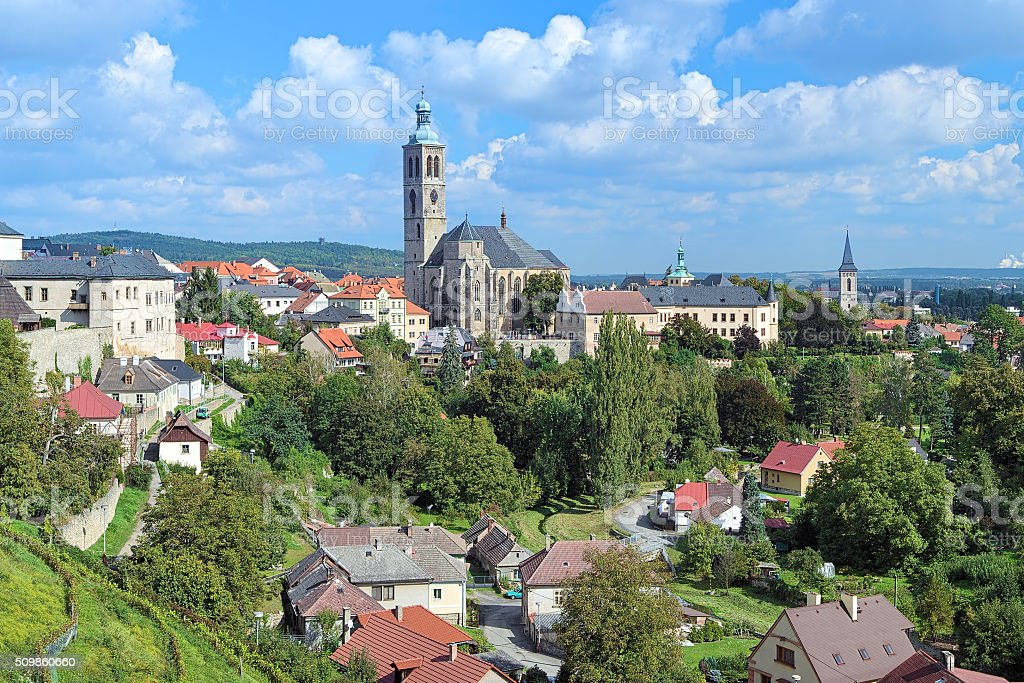 St. James Church in Kutna Hora, Czech Republic stock photo