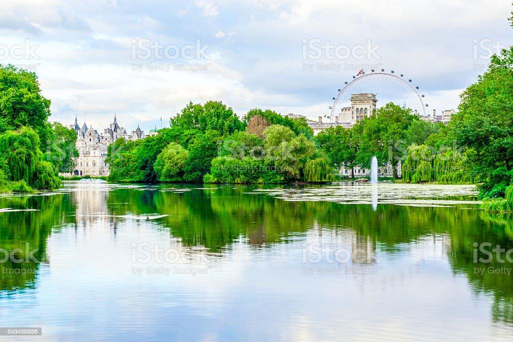 St. James Park in London stock photo