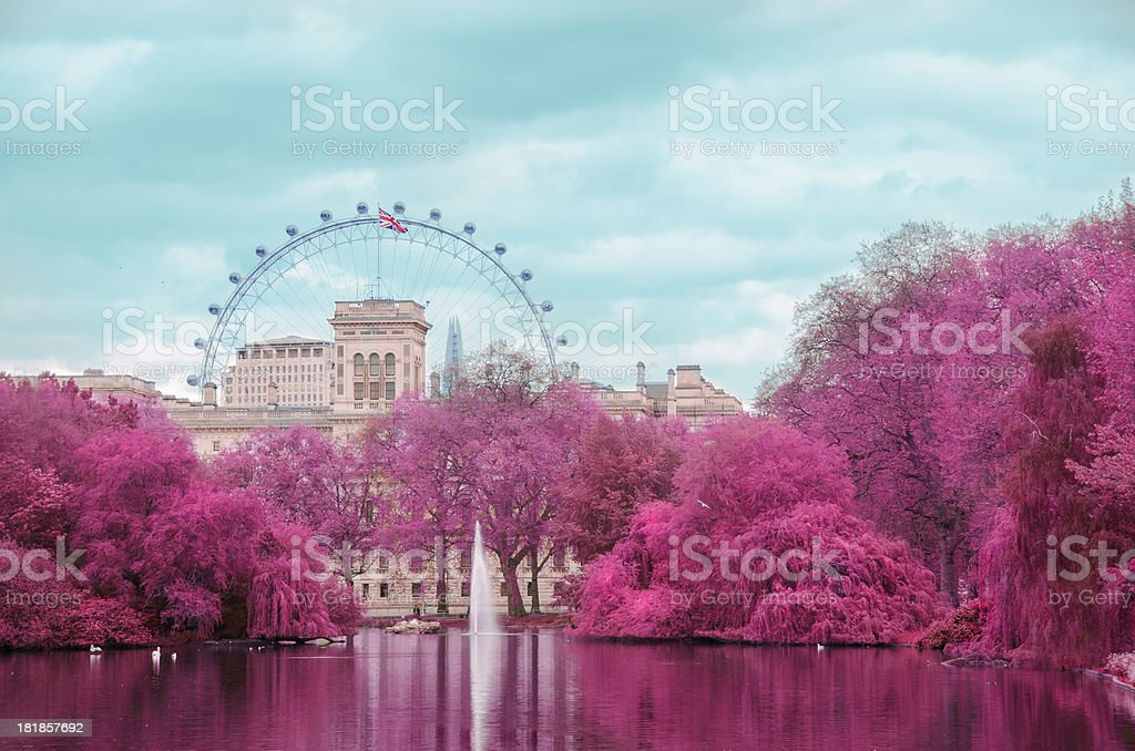 St James park: London in Infrared royalty-free stock photo