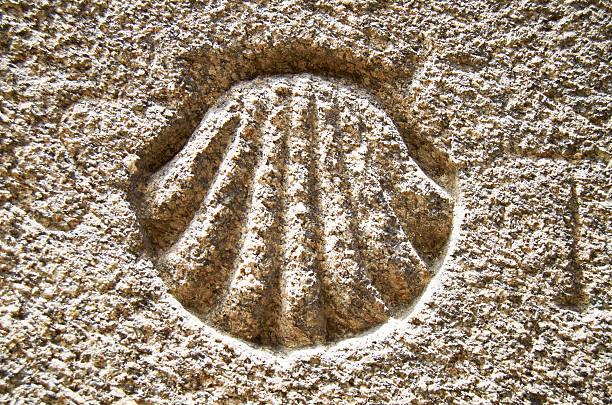 St James shell symbol. stock photo