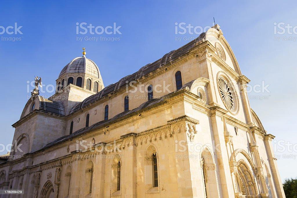 St. James's cathedral in the city of Sibenik, Dalmatia, Croatia stock photo