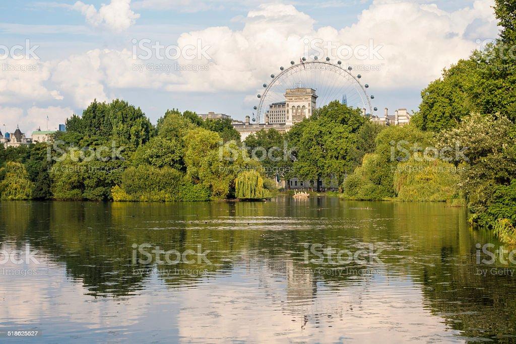 St. James's Park Lake, London England stock photo