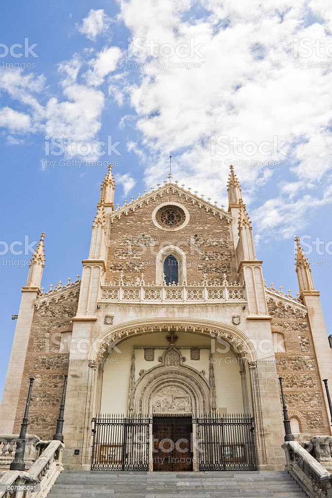 St. Jerome Royal Church in Madrid stock photo