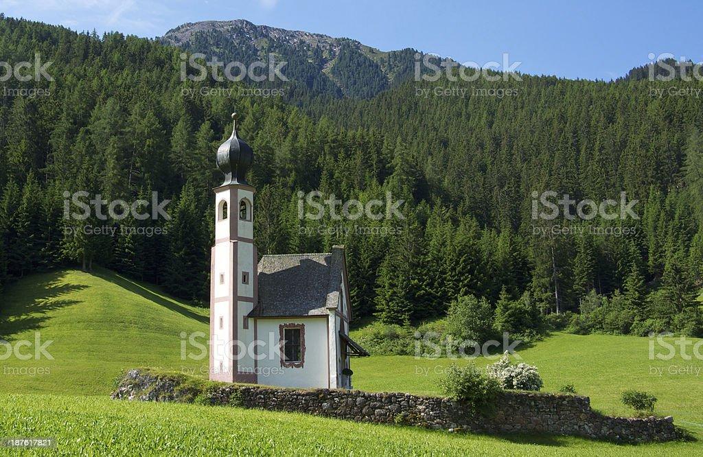 St Johann Church in the Dolomites stock photo