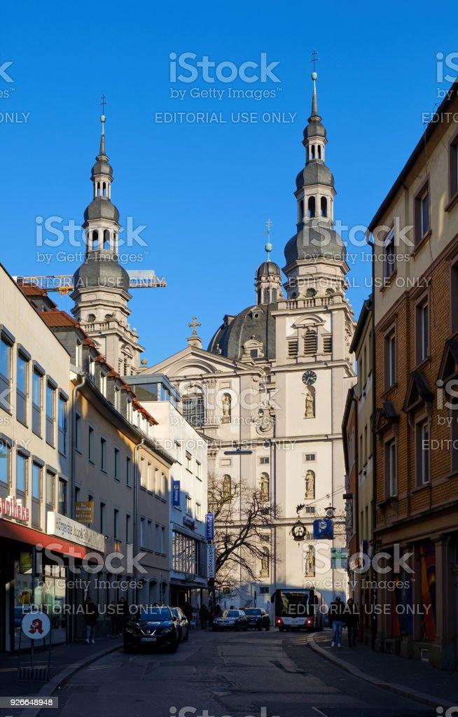 St. Johannes church in Würzburg stock photo