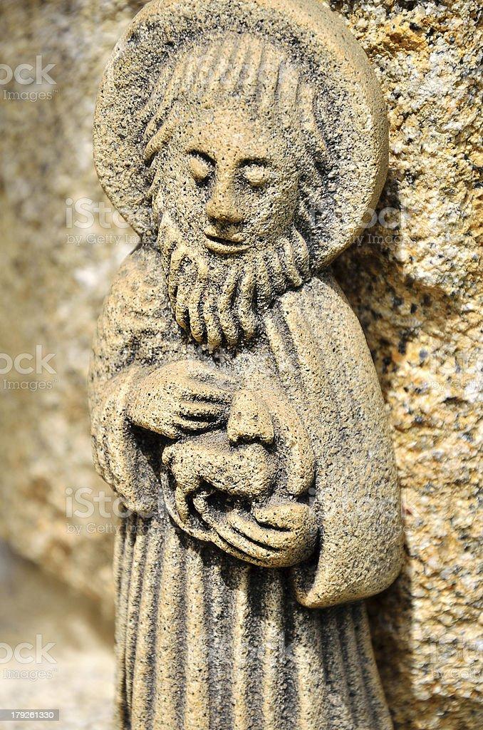 St. John Baptist statue royalty-free stock photo