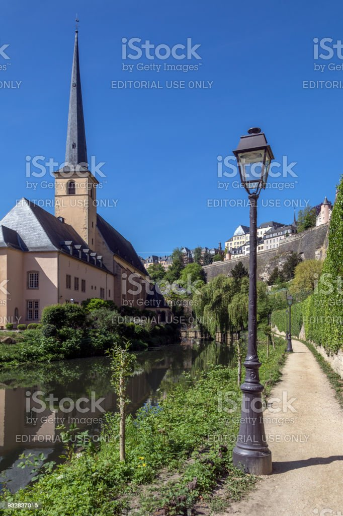St John Neimenster - Luxembourg City in the Grand Duchy of Luxembourg stock photo