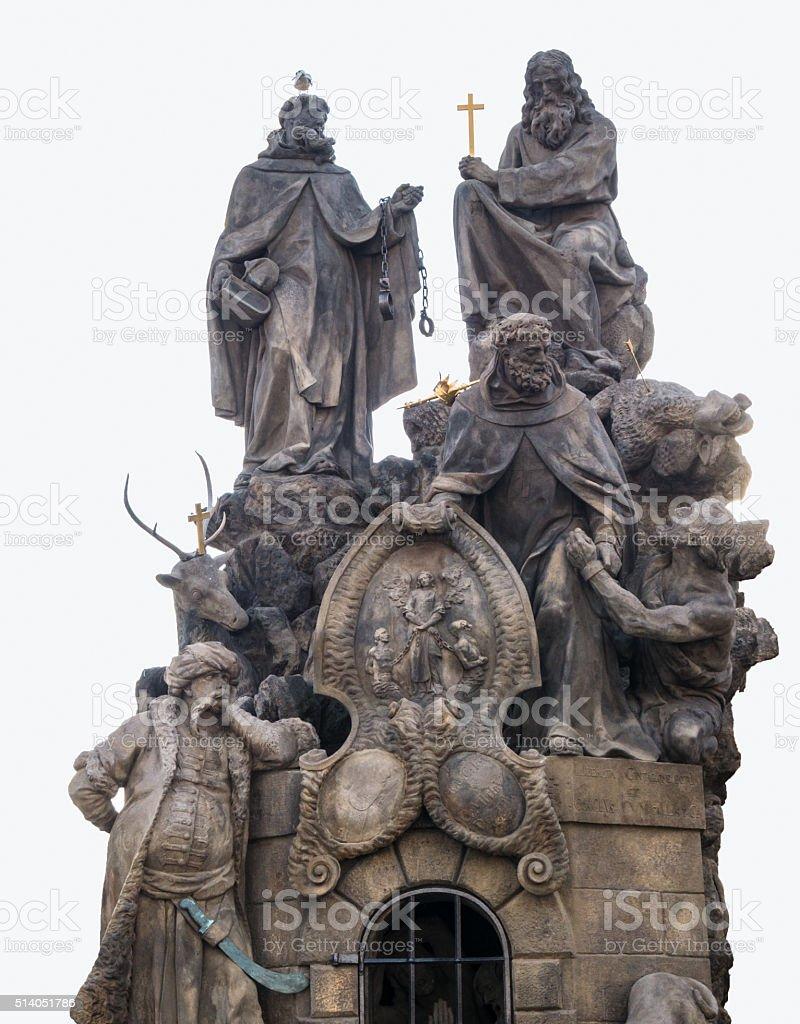 St. John of Matha, St. Felix of Valois, St. Ivan stock photo