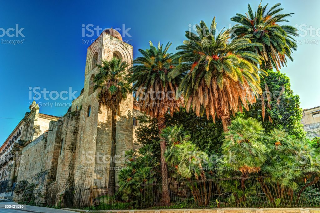 St. John of the Hermits church in Palermo. Sicily stock photo