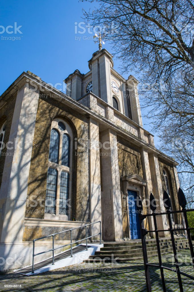 St. John on Bethnal Green church in London, UK stock photo