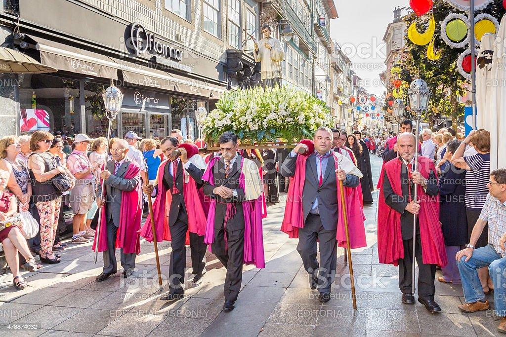 St John 'São João' procession through Braga stock photo
