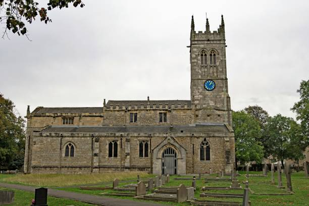 st john the baptist's church, wadworth, doncaster, south yorkshire, england - doncaster foto e immagini stock