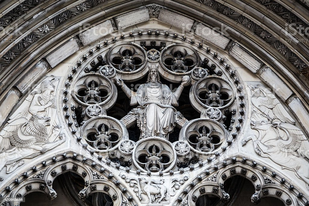 St John the Divine Cathedral, NYC, USA stock photo