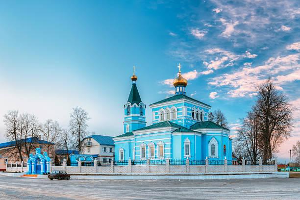 St. John the Korma convent - church in Korma, Belarus stock photo