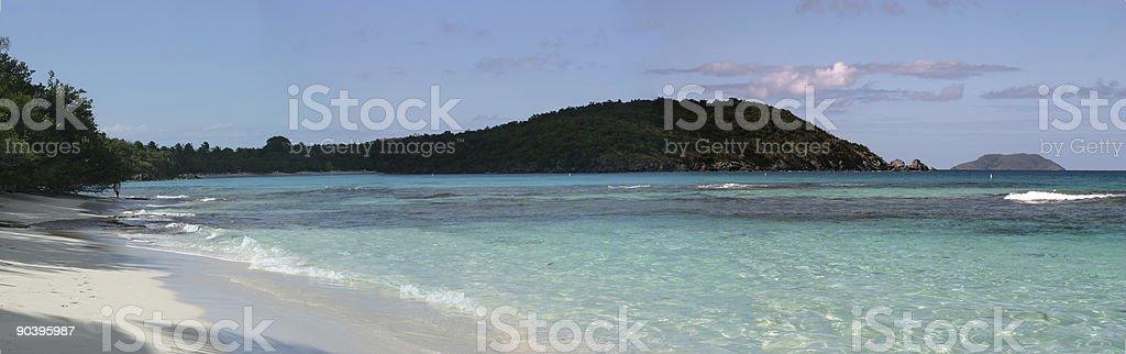 St. John USVI Beach Panoramic stock photo