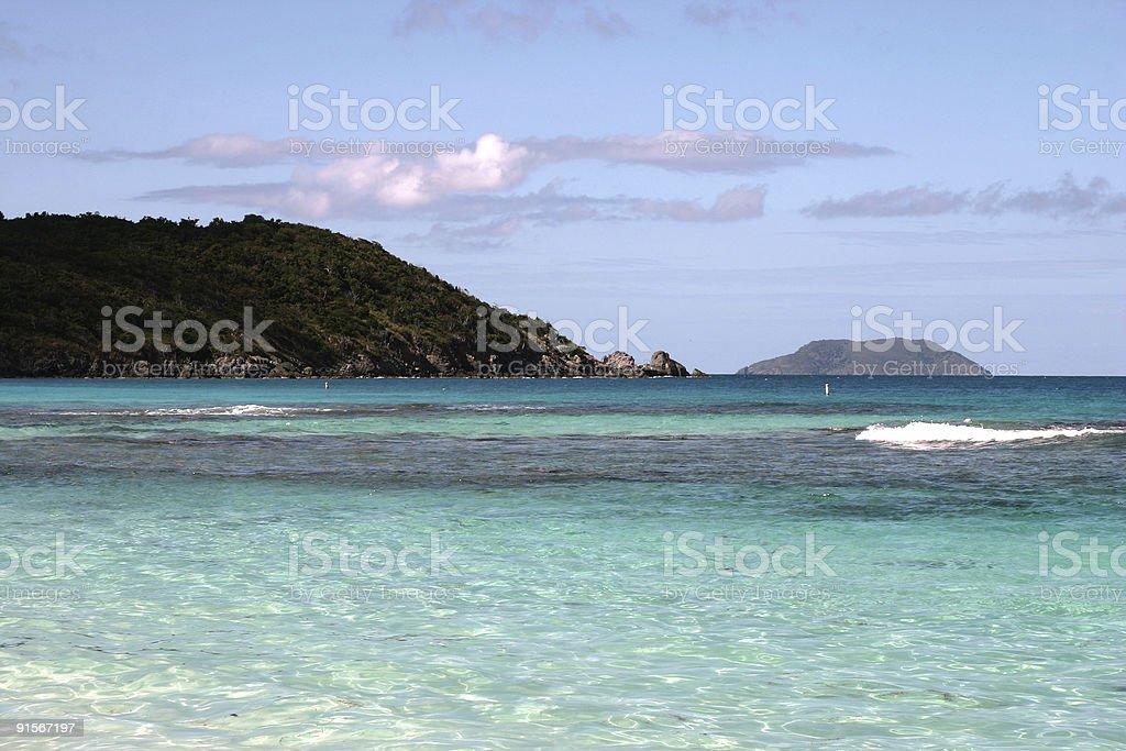 St. John USVI Beach royalty-free stock photo