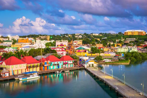 St. John's, Antigua stock photo
