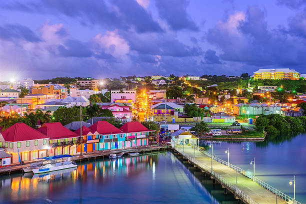 st. johns antigua - caribbean culture stock pictures, royalty-free photos & images