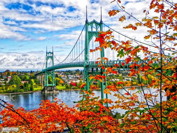 St. Johns Bridge in Autumn