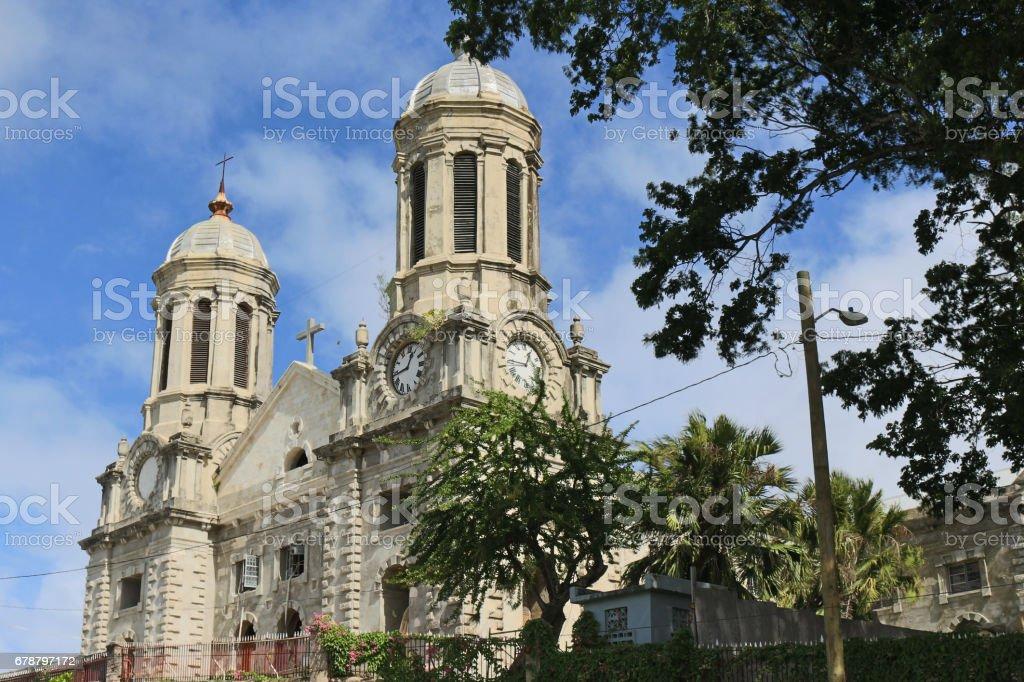 St. John's Cathedral at Antigua and Barbuda stock photo