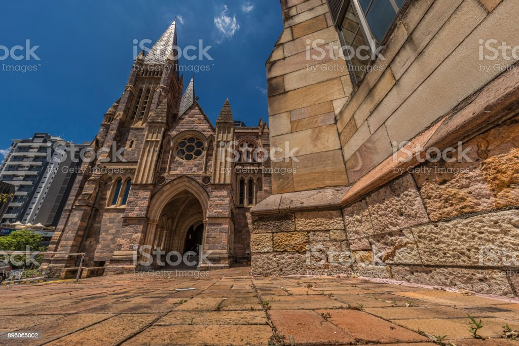 St Johns Cathedral, Brisbane stock photo