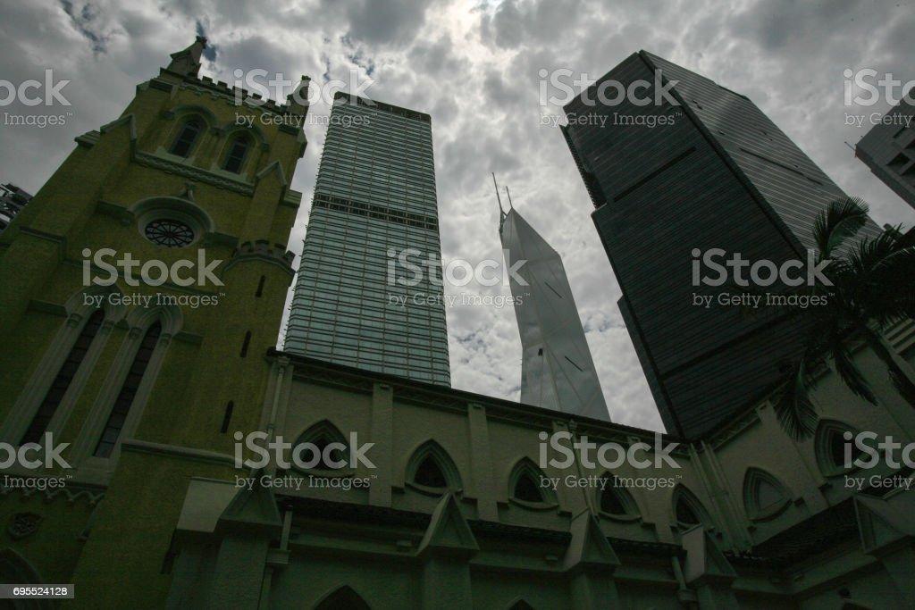 St John's Cathedral in Hong Kong, China stock photo