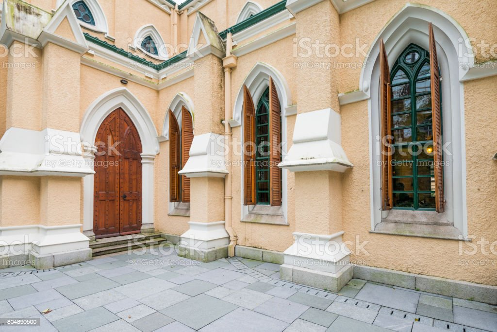 St. John's Cathedral is the first established christian churches in Hong Kong,built in 1849. stock photo