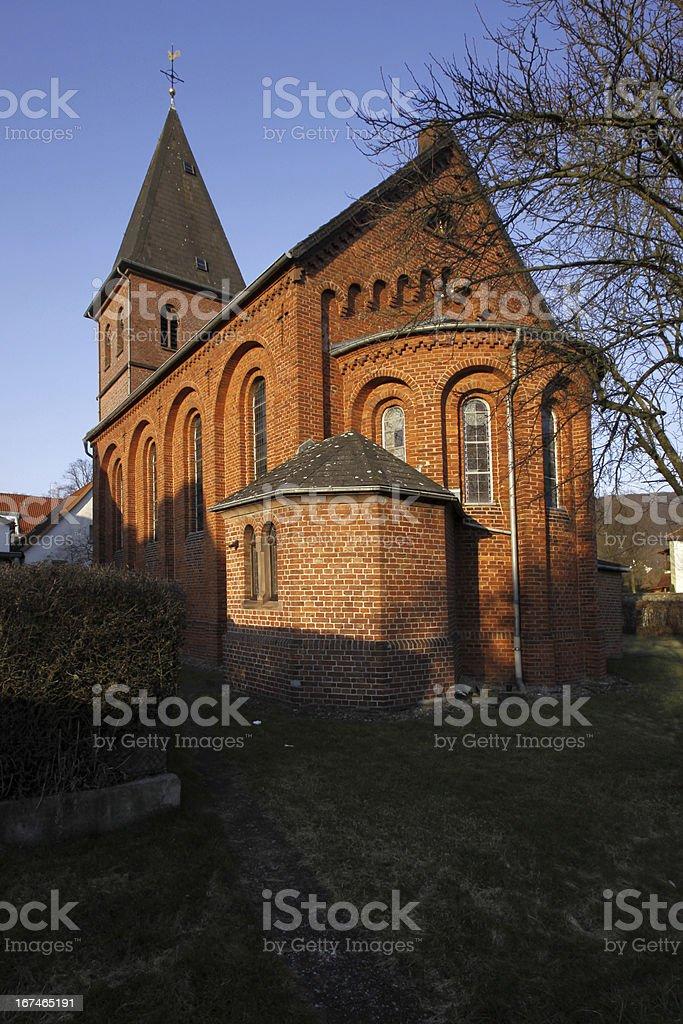 St. John's Church in Luegde (Germany) royalty-free stock photo