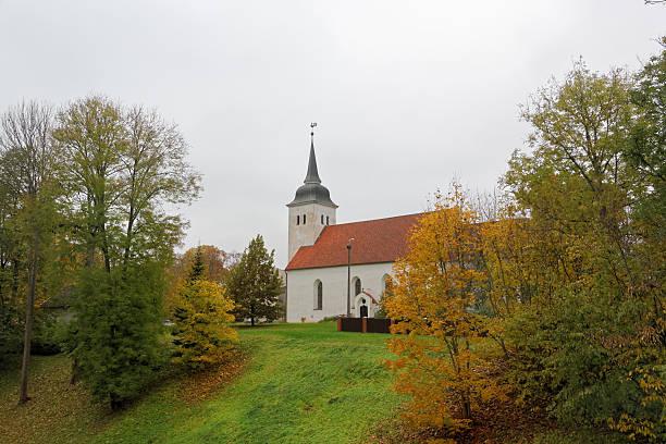 St. John's Church in Viljandi stock photo