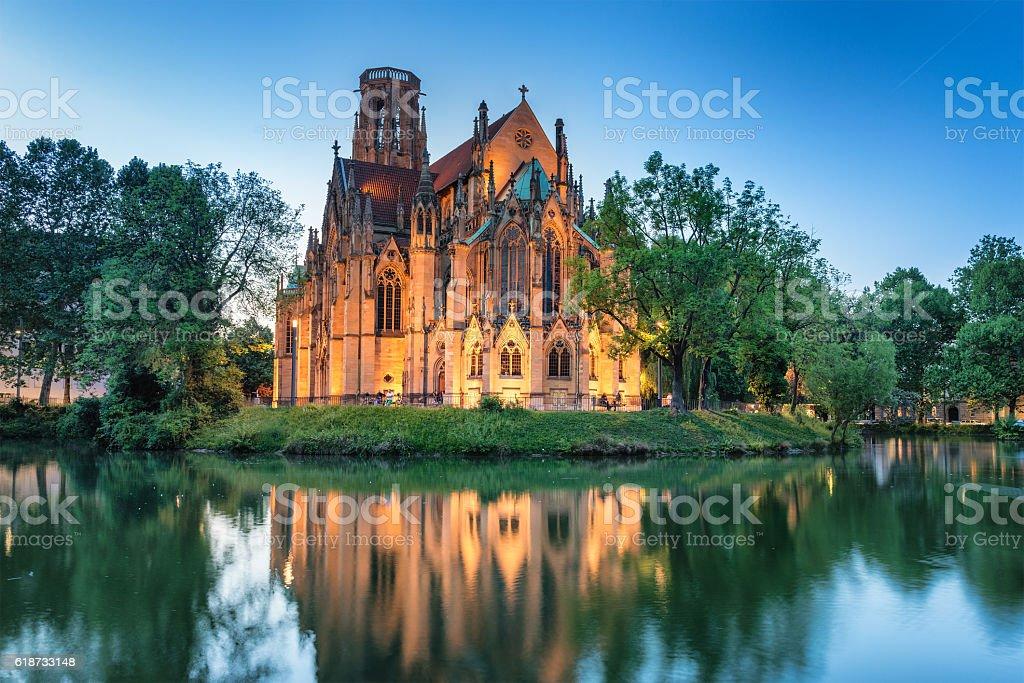 St John's Church Stuttgart, Germany stock photo
