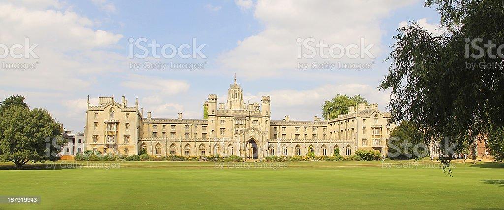 St. Johns College in Cambridge stock photo