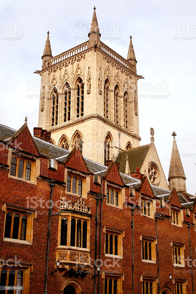 St Johns College tower stock photo