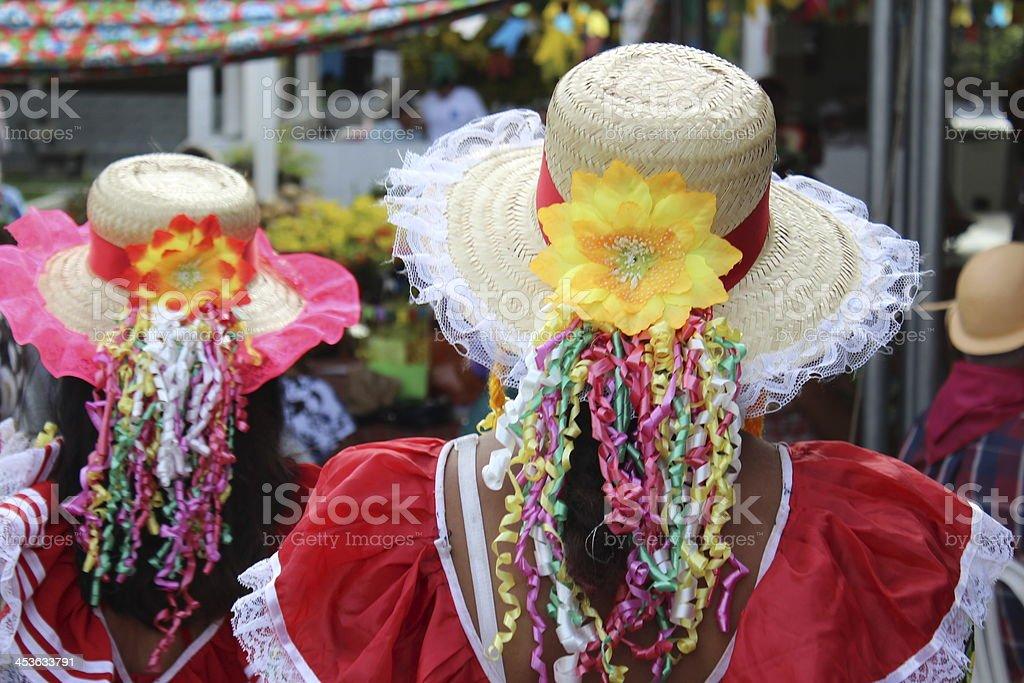 St. John's festivity costumes royalty-free stock photo