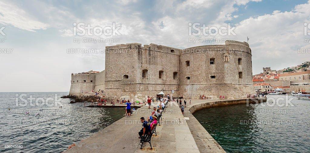 Fortaleza de san juan en Dubrovnik, Croacia foto de stock libre de derechos