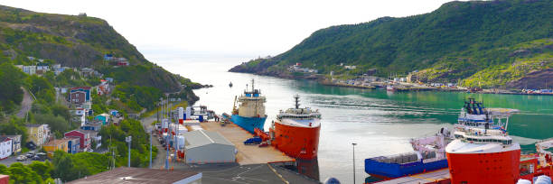 St. John's Harbor, Newfoundland and Labrador, Canada stock photo