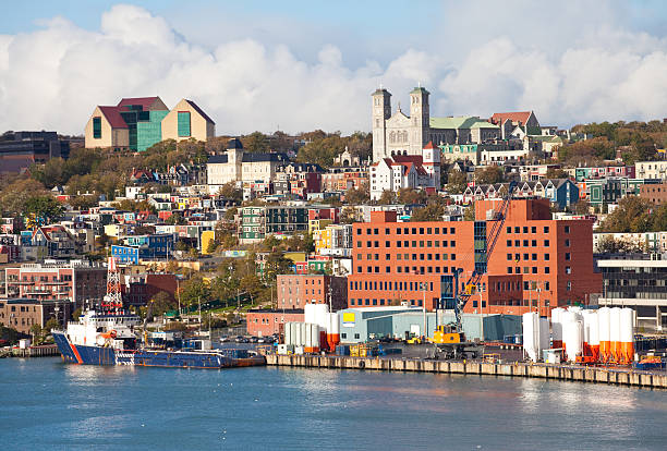 St. John's Harbour in Newfoundland stock photo