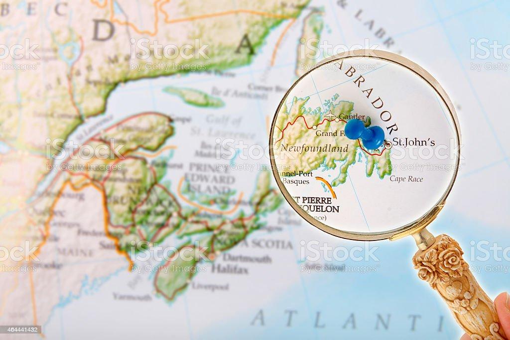 St. John's, Newfoundland through a loop stock photo