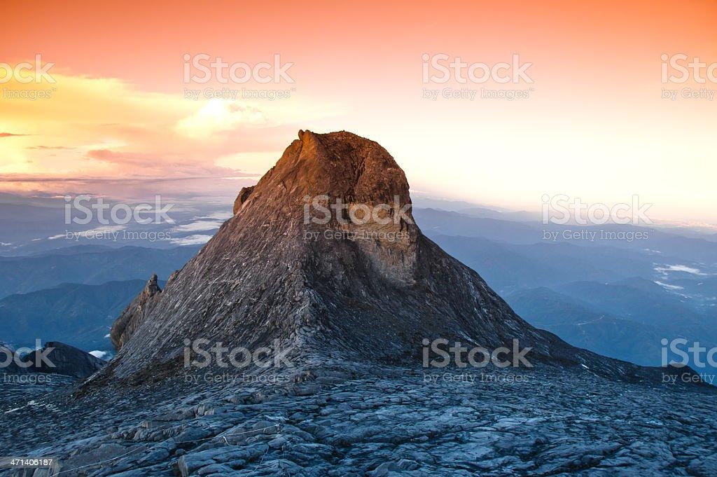 St. John's peak on Mount Kinabalu summit royalty-free stock photo