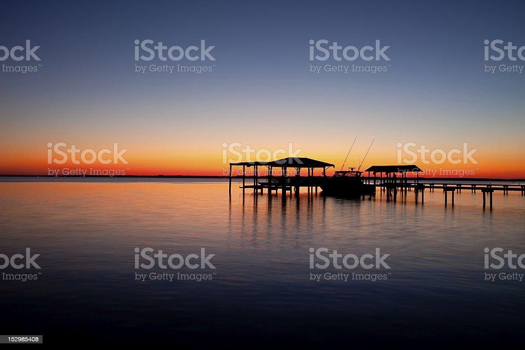 St. Johns River Sunset stock photo