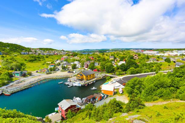 St. John's Summer, Newfoundland stock photo