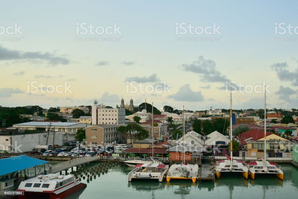 St. John's Waterfront stock photo