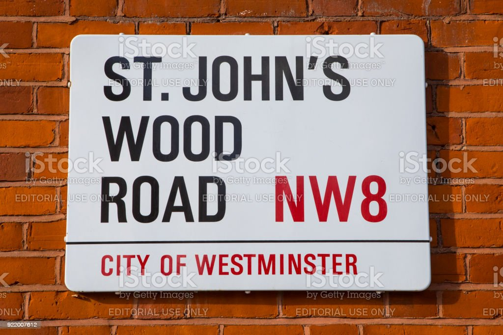 St. Johns Wood Road in London, UK stock photo