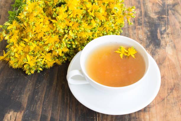 St. John's Wort Tea stock photo