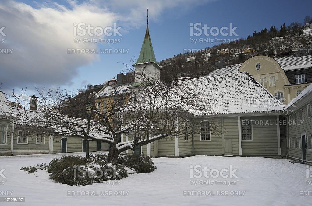 St. Jorgen'™s leprosy Hospital in Bergen, Norway stock photo