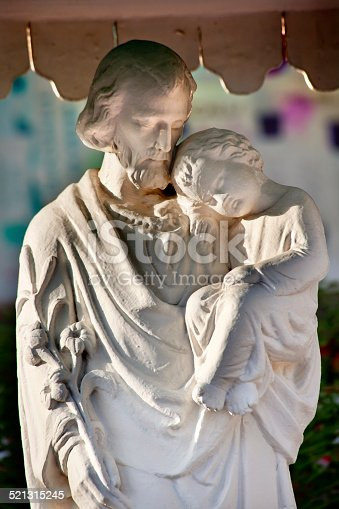 St Joseph Baby Jesus Statue St. Joseph Wangfujing Cathedral,Beijing China.  Very famous Catholic Church built in 1655 and in Boxer Rebellion