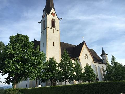 St. Joseph catholic parish church in Abtwil-St. Josefen, Saint Gallen (Römisch-katholische Pfarrei und Pfarrkirche St. Josef in Abtwil-St. Josefen, Sankt Gallen), St. Gallen - Switzerland (Schweiz)