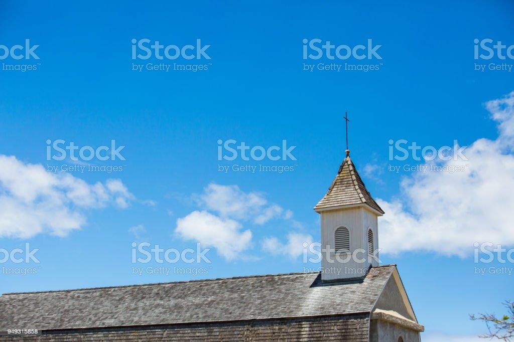 St Joseph Church in Hana Maui Hawaii stock photo